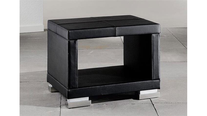 Nachtkonsole HOMER Nachtkommode mit schwarzem Bezug