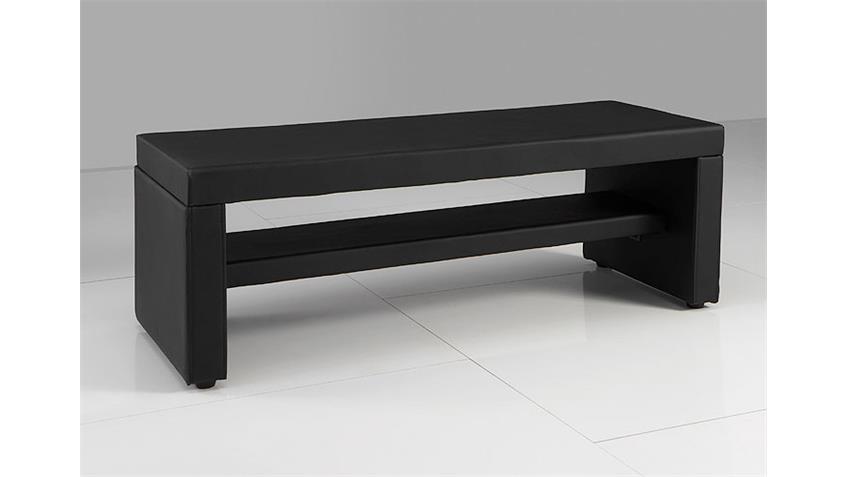 bettbank fero kommode sitzbank in schwarz breite 120 cm. Black Bedroom Furniture Sets. Home Design Ideas