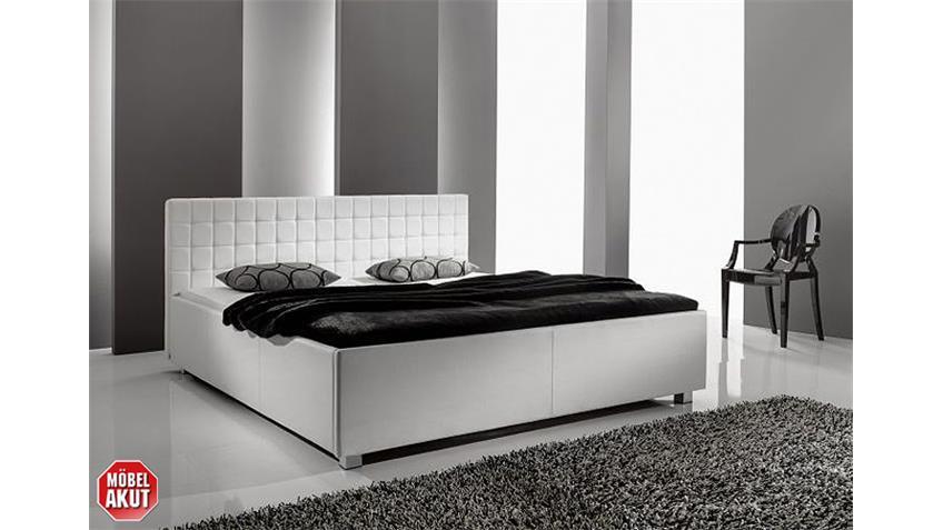 Polsterbett MYLA III Bett in Schwarz gesteppt 140x200 cm