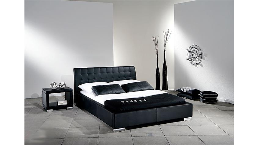Polsterbett SABI Bett Doppelbett in Schwarz 180x200 cm