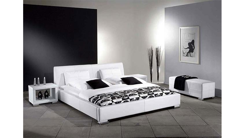 polsterbett delgado bett doppelbett in wei 140x200 cm. Black Bedroom Furniture Sets. Home Design Ideas
