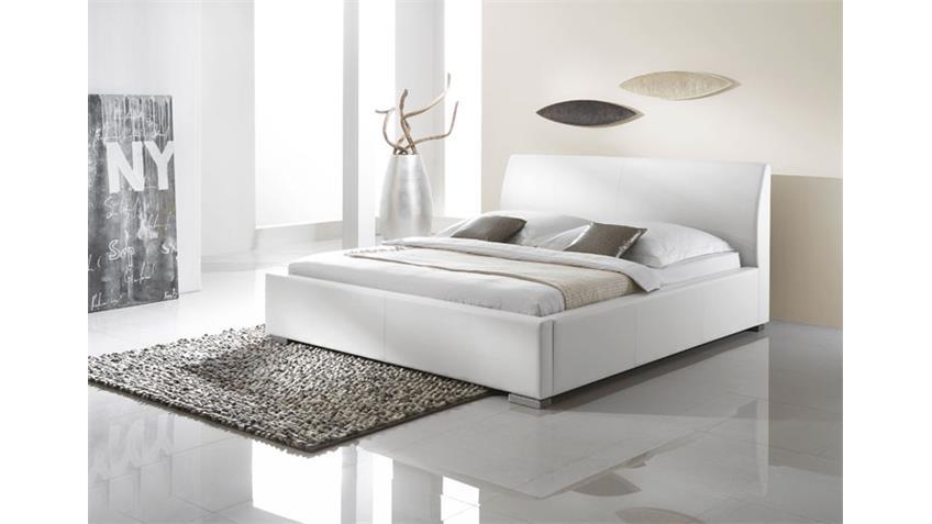 Polsterbett DELGADO II Komfortbett in Weiß 180 x 200 cm