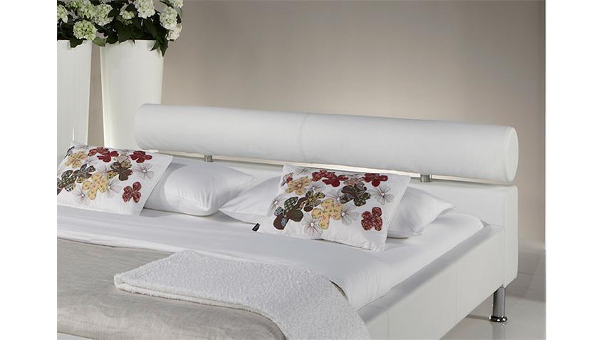 Polsterbett MANELLI Designer Bett in Weiß 140x200 cm