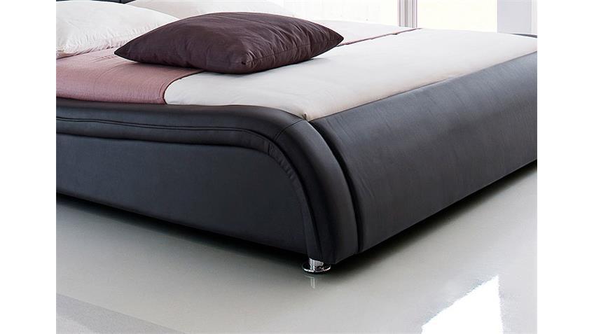Polsterbett SOMA Designer Bett in schwarz 160 x 200