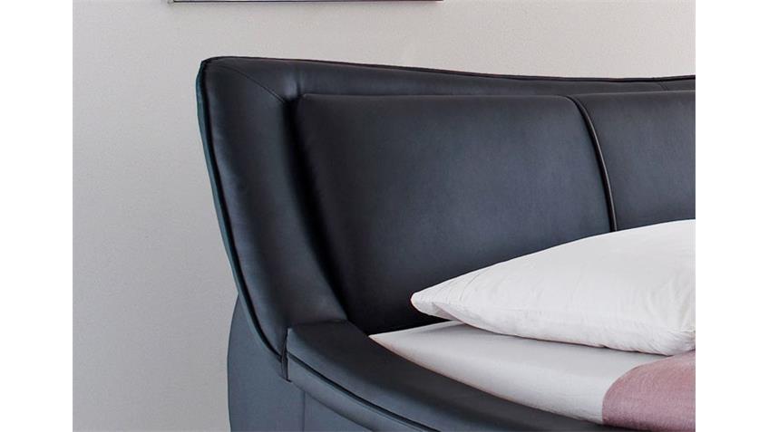Polsterbett SOMA Designerbett in schwarz 180 x 200