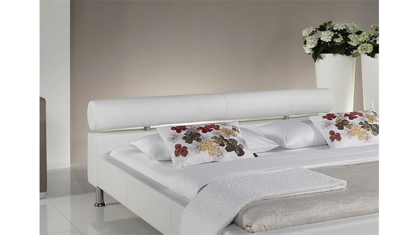 Polsterbett MANELLI Designer Bett in Weiß 180x200 cm