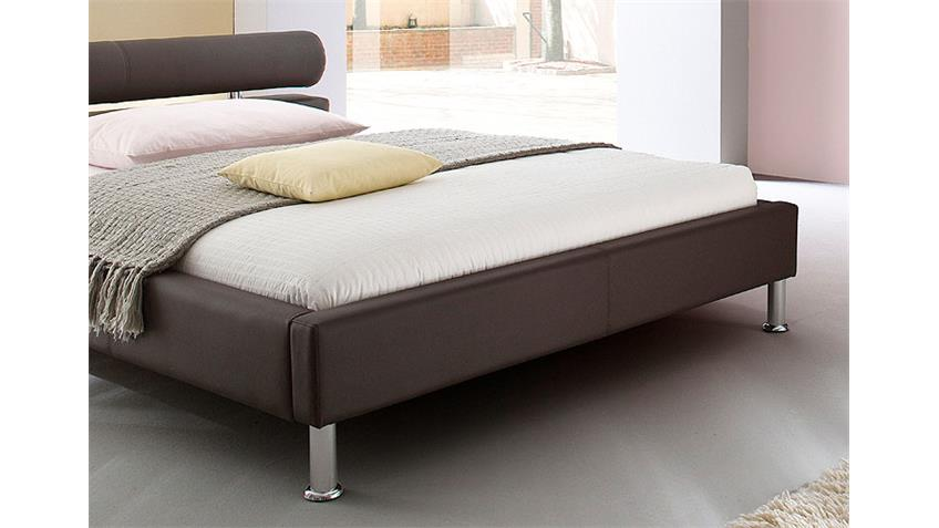 MANELLI Designer Polsterbett Braun 180 x 200