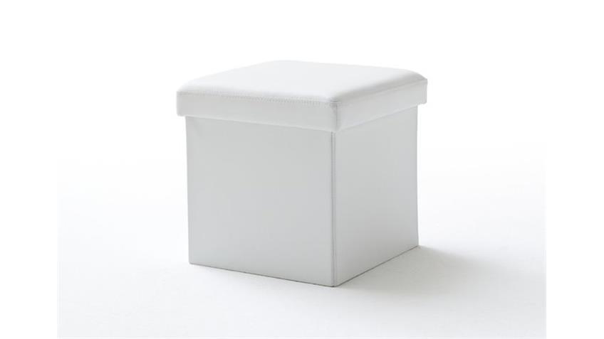 Würfel BOX mit Deckel und Stauraum in Weiß 40x40 cm