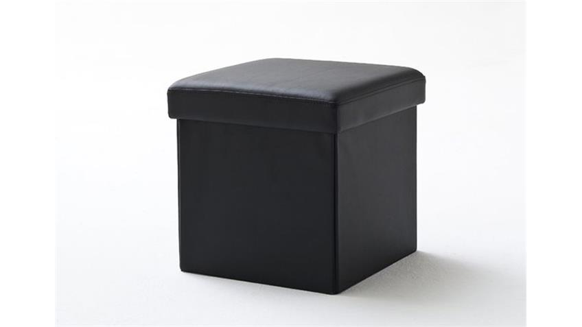 Würfel BOX mit Deckel und Stauraum in Schwarz 40x40 cm