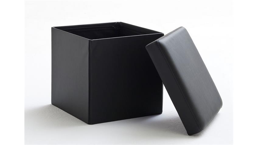 BOX Würfel mit Deckel und Stauraum Schwarz 40x40