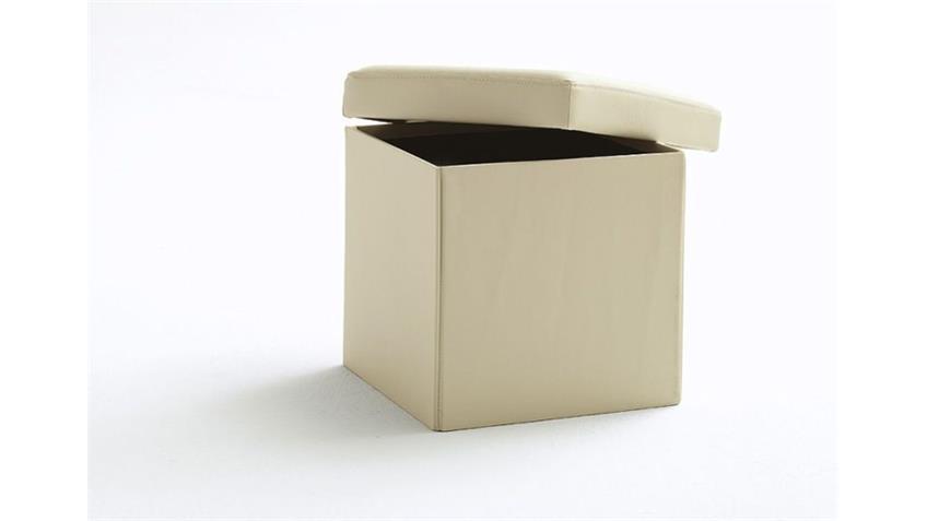 BOX Würfel mit Deckel und Stauraum  Sahara Beige 40x40
