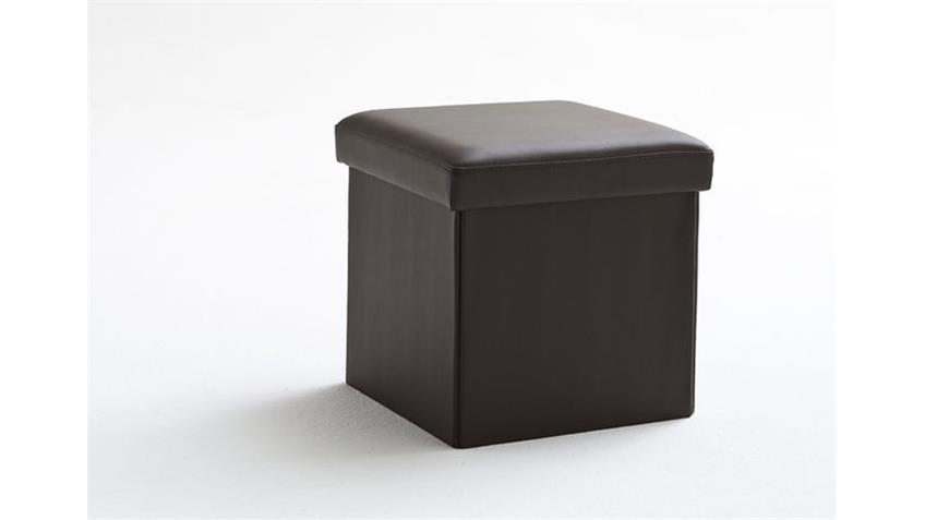 Würfel BOX in Braun mit Deckel und Stauraum 40x40 cm