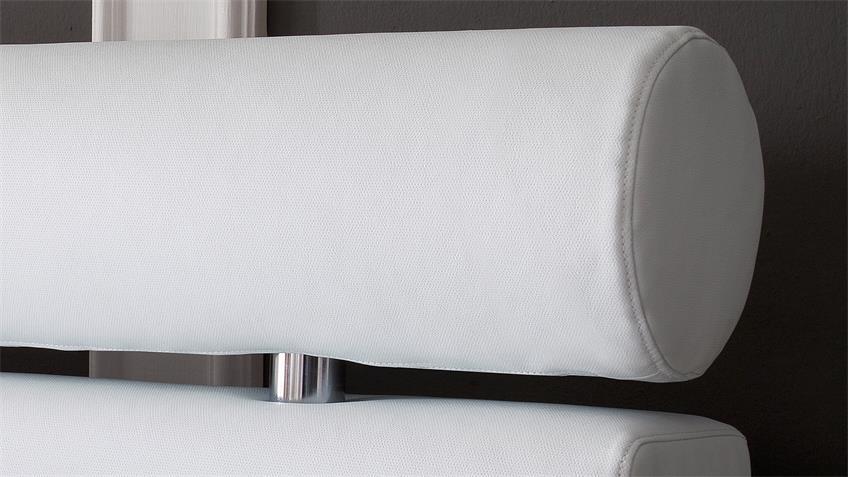 Boxspringbett ANELLO weiß mit Kopfteil und Topper 180x200