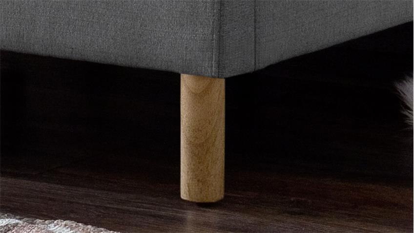 Polsterbett MALIN Stoff hellgrau 140x200 cm mit Kopfteil
