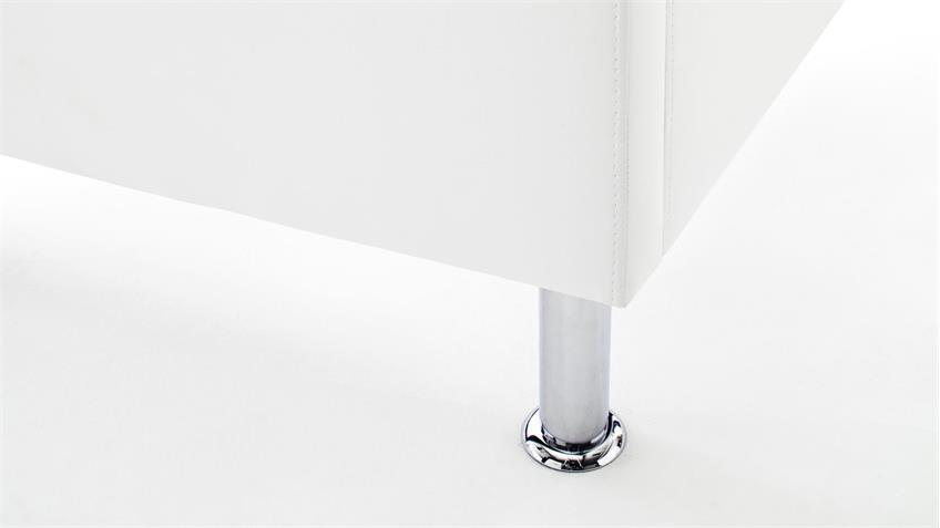 Polsterbett RAPIDO weiß 180x200 Kopfteil mit Swarovski®-Kristallen