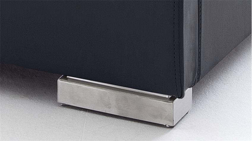 Polsterbett ISA COMFORT schwarz mit Kopfteil 140x200 cm