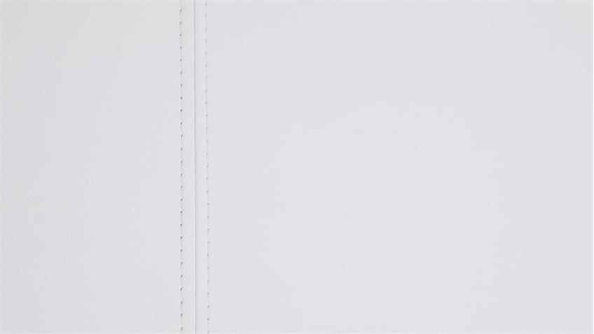 Polsterbett ISA COMFORT weiß mit Kopfteil 140x200 cm