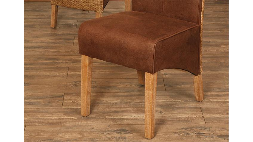 Stuhl SEVILLA 6er Set African Loom antik smoke gebürstet