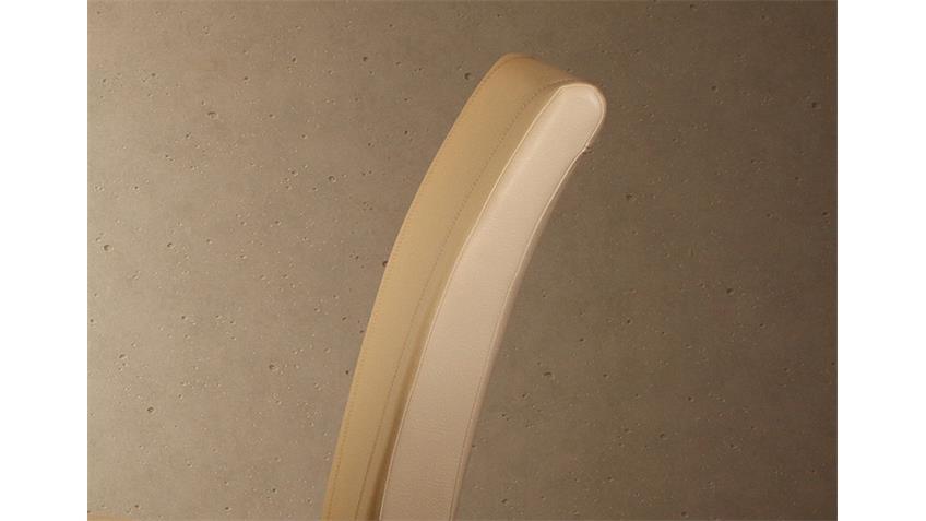 Stuhl LORD 6er Set beige und Buche massiv