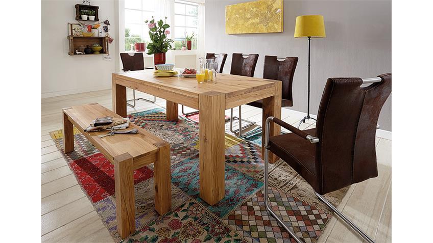 esstisch rustiko wildeiche massiv ge lt 180x90. Black Bedroom Furniture Sets. Home Design Ideas