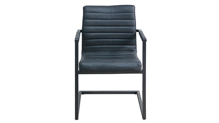 Stuhl PARZIVAL 4er Set anthrazit Eisen grau Armlehne