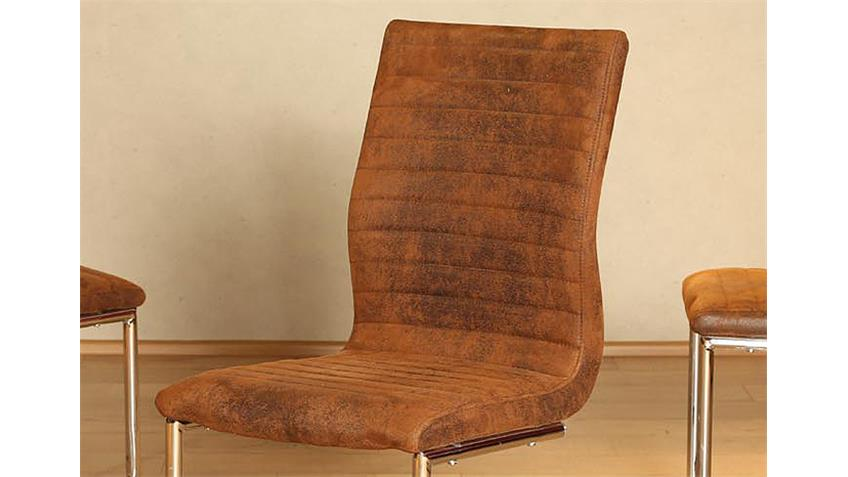 Schwingstuhl ASTRID 4er Set in antik braun