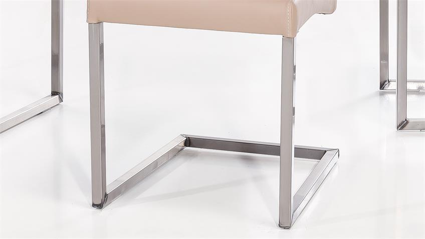 Schwingstuhl QUEENS 2er-Set Stuhl schlamm Gestell Eisen