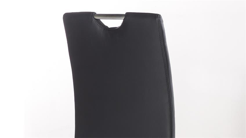 Schwingstuhl NICOLE 4er-Set Esszimmerstuhl schwarz