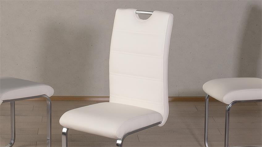 Schwingstuhl NICOLE 4er-Set Esszimmerstuhl weiß