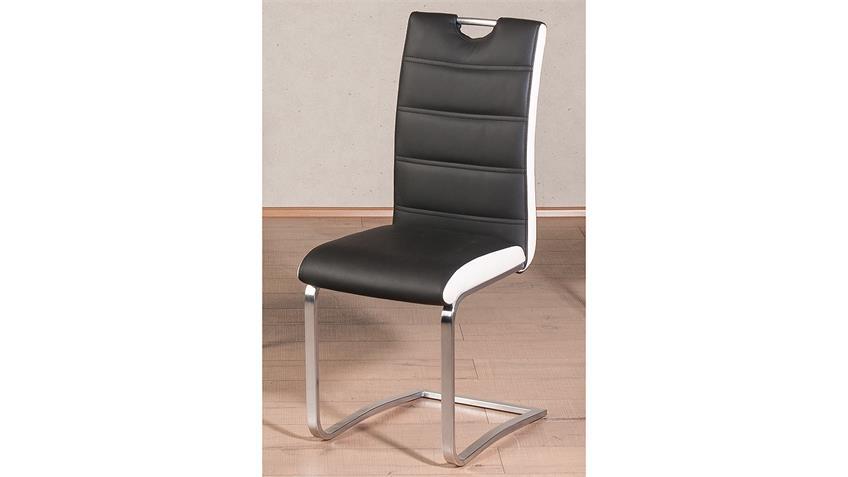 Schwingstuhl NICOLAS 4er-Set Esszimmerstuhl schwarz weiß