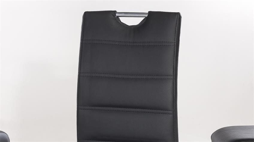 Tischgruppe PALM BEACH NICOLE Kernbuche massiv schwarz