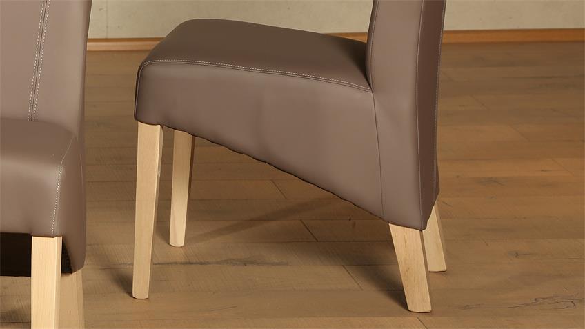Polsterstuhl LORD 2er-Set Stuhl elephant Eiche Sonoma