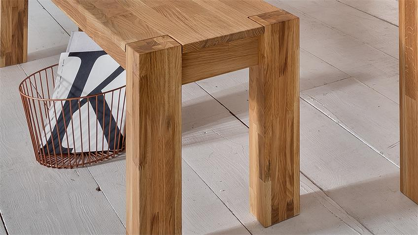 Sitzbank BIG OAK in Wildeiche massiv geölt 170x33 cm