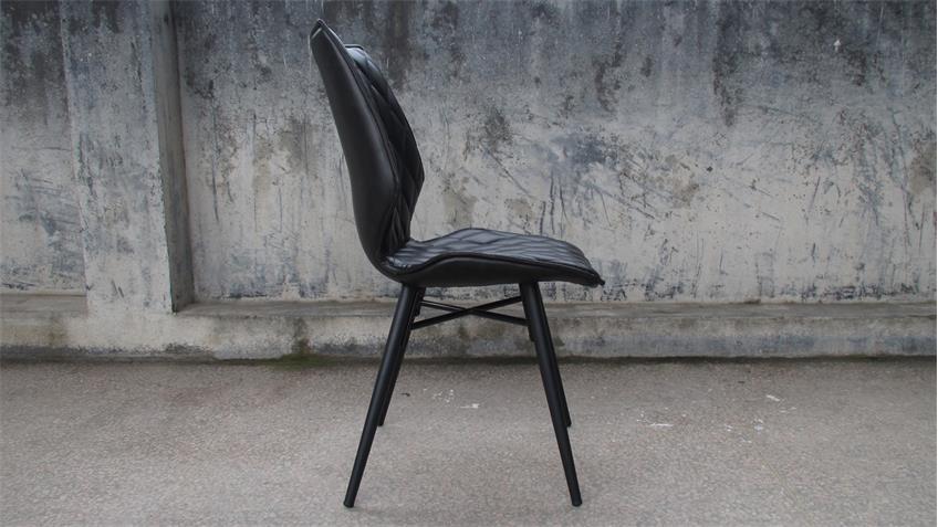 Tischgruppe NEW YORK 180 Eiche natur 4 Stühle STOCKHOLM
