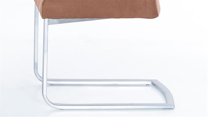 Schwingstuhl LARA 2er-Set Esszimmerstuhl in braun