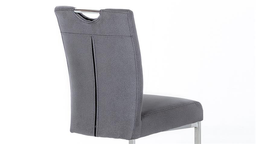 Schwingstuhl LARA 2er-Set Esszimmerstuhl in grau