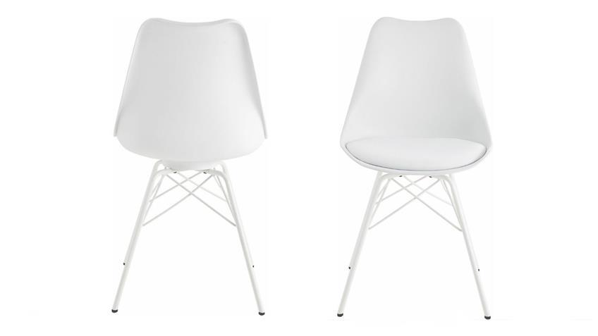 Tischgruppe MIAMI BEACH OSLO Eiche bianco 180 weiß 5-teilig