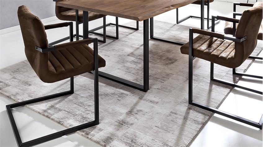 Tischgruppe MARYLAND PARZIVAL Akazie 200 mit Stühlen 5-tlg