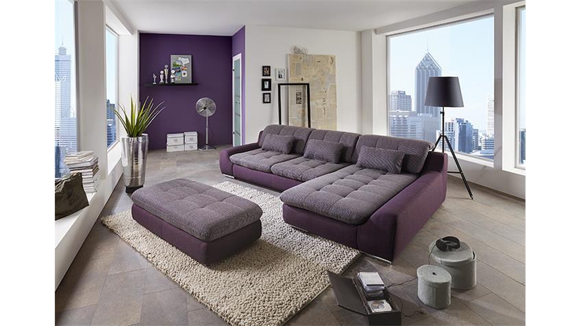 Hocker SPIKE Polsterhocker Sitzhocker Purple Aubergine lila