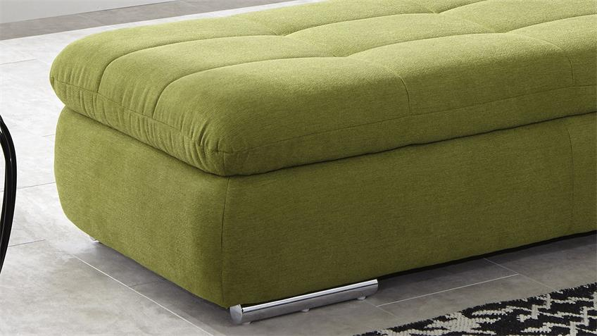Hocker CHAMP Polsterhocker in grün 135x63 cm