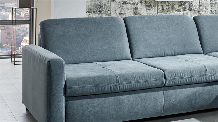 Ecksofa MP-IN1906 L-Sofa Stoff steel mit Sitztiefenverstellung