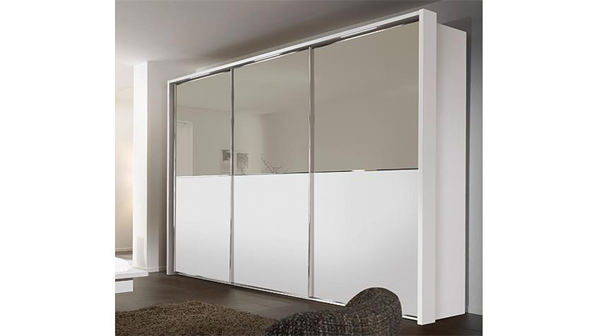 schwebet renschrank attraction von nolte wei glas b 300 cm. Black Bedroom Furniture Sets. Home Design Ideas