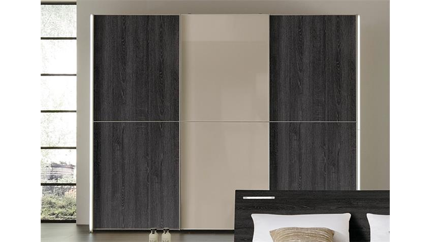 kleiderschrank marcato von nolte mooreiche saharaglas b 240. Black Bedroom Furniture Sets. Home Design Ideas