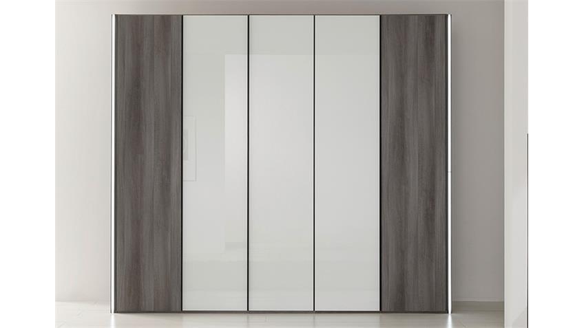 kleiderschrank marcato von nolte mooreiche wei glas b 250 cm. Black Bedroom Furniture Sets. Home Design Ideas