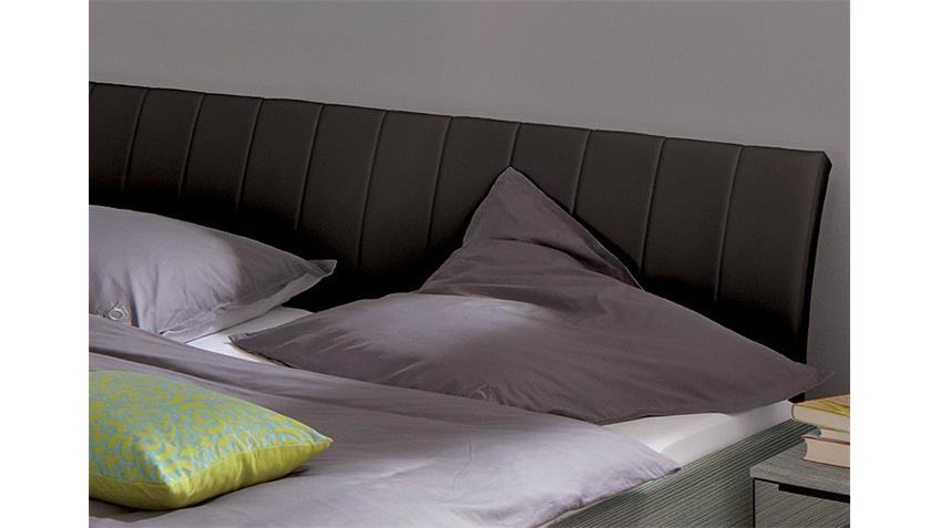 Bett SONYO von Nolte Silbereiche Schwarz 180x200 cm