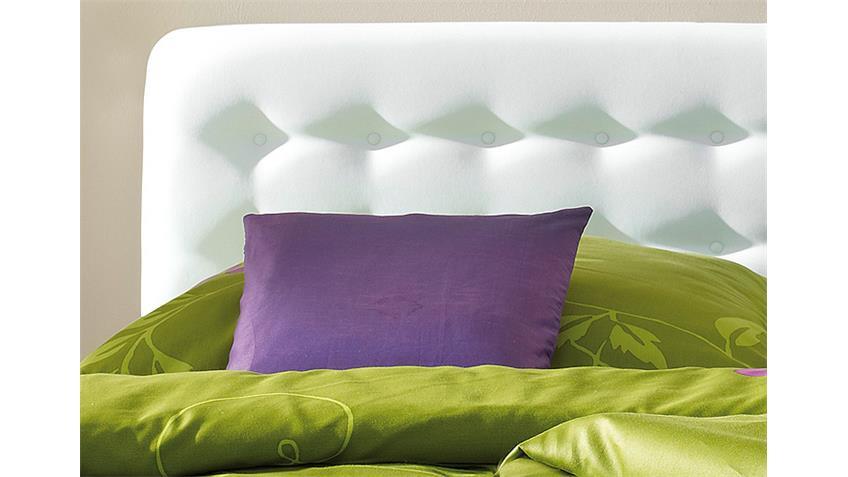 Bett SONYO von Nolte Sonoma Eiche Kopfteil weiß 180x200 cm