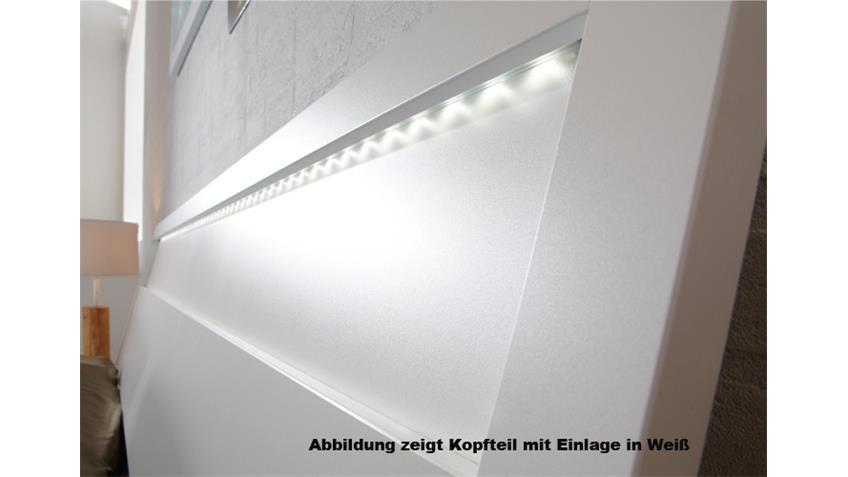 Bett SONYO von Nolte Weiß Sonoma Eiche 180x200 cm inkl. LED