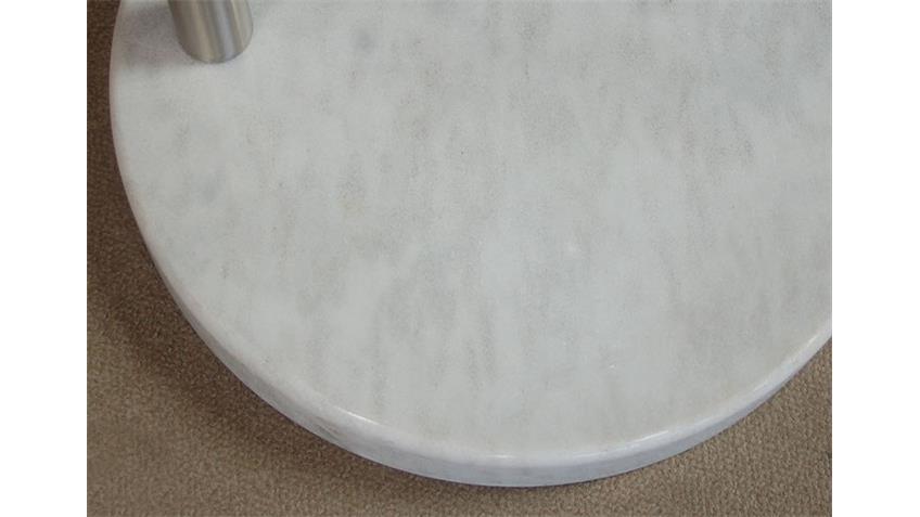Bogenleuchte ARNA Weiß mit Marmor Fuß höhenverstellbar