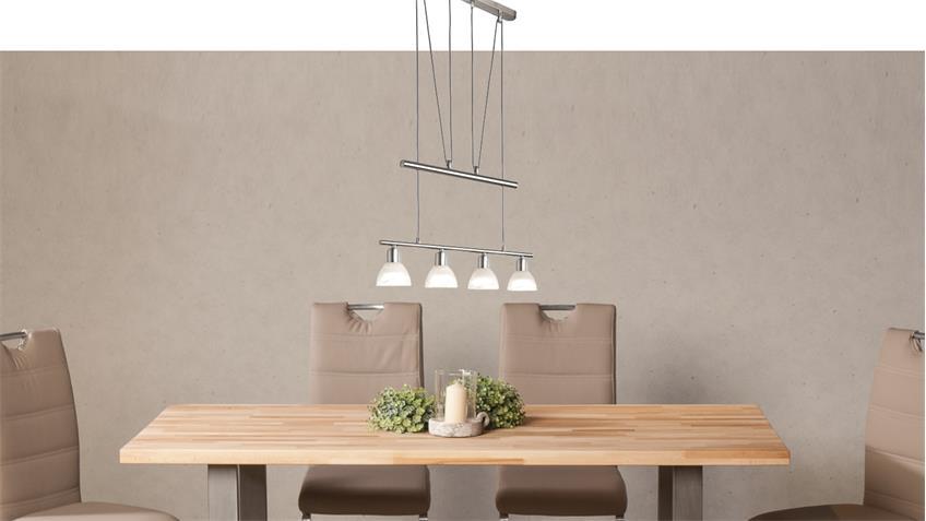 led jojo pendelleuchte daytona glas nickel inklusive leuchtmittel. Black Bedroom Furniture Sets. Home Design Ideas