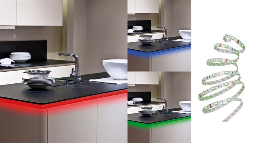 LED RGB Flexband kürzbar 16 Farben 30 LED´s Farbwechsler